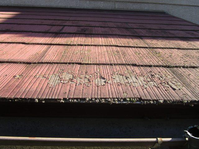 所沢市山口 現地調査 塗装が剝がれた屋根