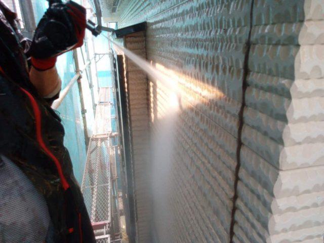 所沢市東所沢 屋根葺き替え、外壁塗装 高圧洗浄作業 (7)