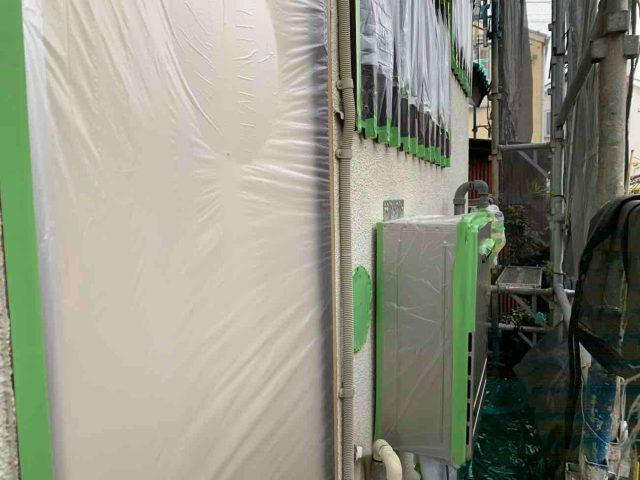 所沢市 上新井 屋根・外壁塗装 養生作業 (8)