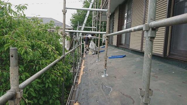 所沢市若狭 屋根葺き替え・カバー工事 下屋根 葺き替え 剥がし作業