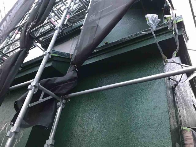 変換 ~ 飯能市 屋根カバー 外壁塗装 外壁中、上塗り (9)