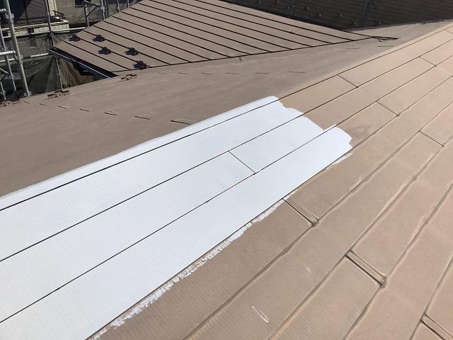 所沢市 松郷 屋根塗装 下塗り