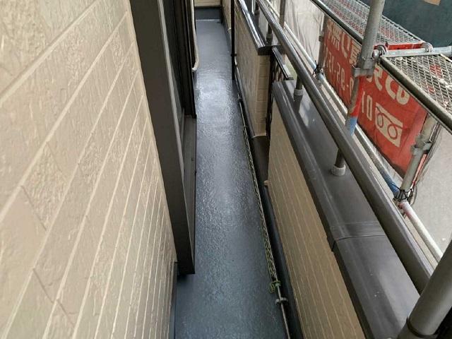 所沢市和ケ原 屋根カバー、天窓撤去、外壁塗装工事 ベランダ防水工事1