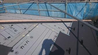 狭山市笹井 屋根カバー、葺き替え工事 外壁塗装 スーパーガルテクト施工1