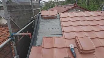 東京都東大和市 屋根葺き替え、外壁塗装工事 屋根材ROOGA 施工2