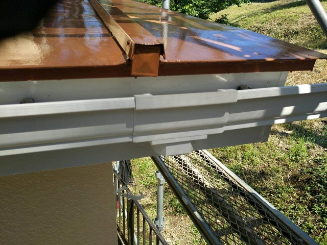 東京都東大和市 屋根葺き替え、外壁塗装工事 雨樋・波板交換3