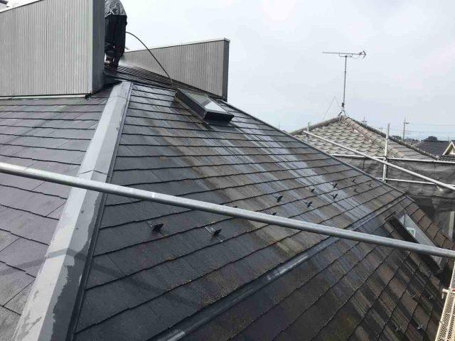 狭山市南入曽 屋根塗装・外壁塗装 高圧洗浄作業 (4)
