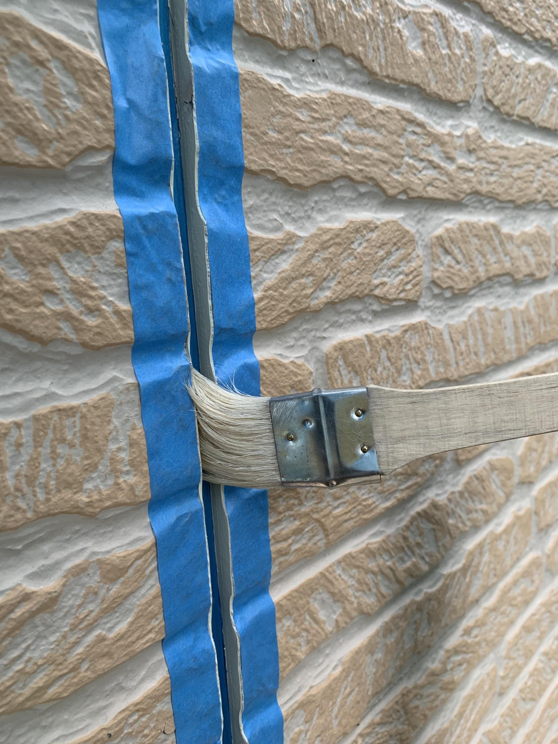 所沢市東所沢 屋根カバー、外壁塗装 軒下、縦目地のシーリング工事 (4)