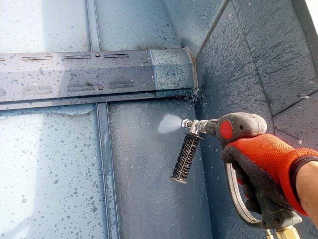 所沢市 西所沢 屋根・外壁塗装 高圧洗浄作業