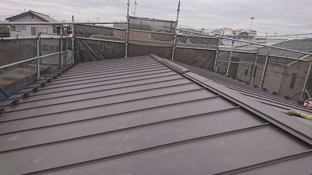 所沢市 松郷 セキスイかわらU屋根葺き替え スーパーガルベスト施工