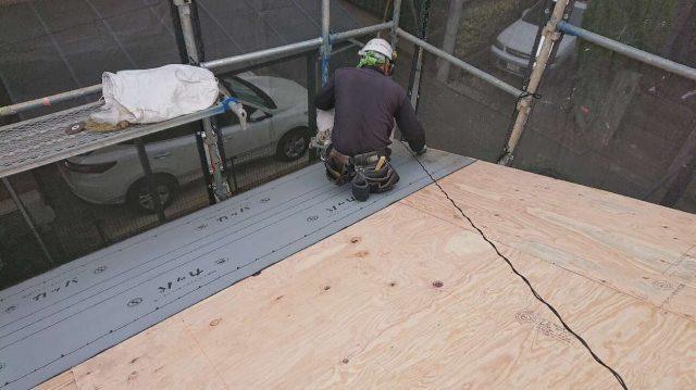 所沢けやき台 屋根下葺き ルーフィング工事