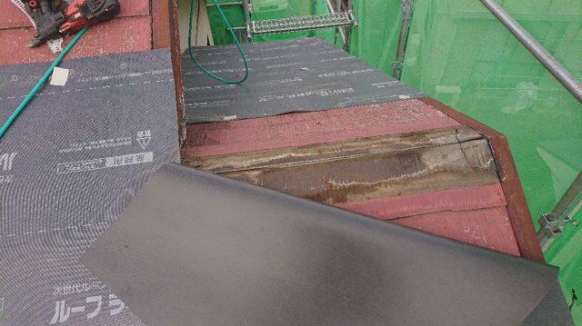 所沢市山口 屋根カバー工法 ルーフィング