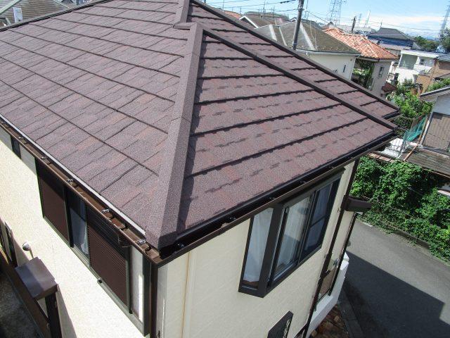 FSストーン屋根カバー完成