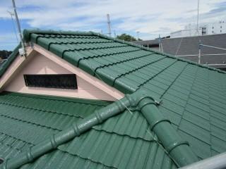狭山市水野 屋根塗装 外壁塗装 ベランダ防水工事 施工後