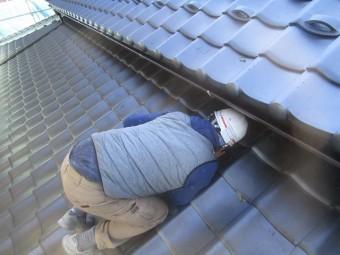 入間市宮寺 和型の瓦屋根 新東「極」瓦葺き替え工事 検査
