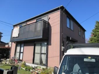 狭山市広瀬 屋根カバー工事 外壁塗装 施工前全体