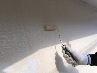 所沢市北中 屋根葺き替え、外壁塗装工事 外壁上塗り