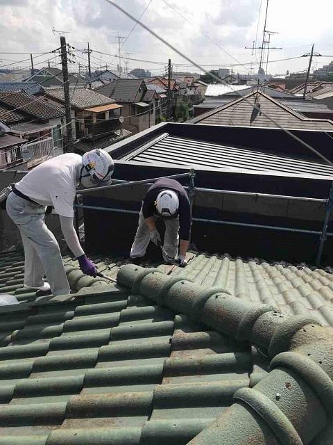 所沢市 北所沢 屋根葺替え 瓦屋根剥がし