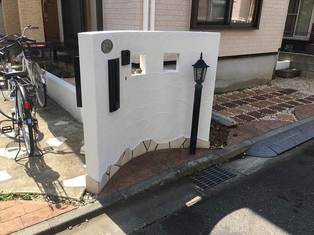 狭山市広瀬 屋根・外壁塗装 ベランダ防水 塀塗装後