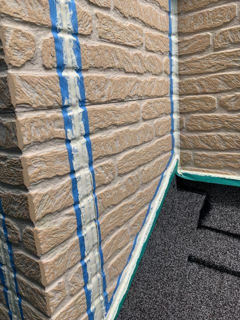 所沢市東所沢 屋根カバー、外壁塗装 軒下、縦目地のシーリング工事 (6)