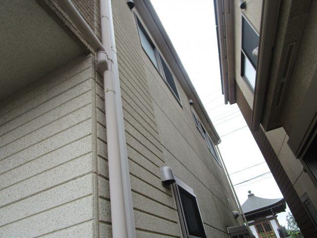 所沢市 北秋津 屋根カバー、外壁塗装 現地調査 縦樋