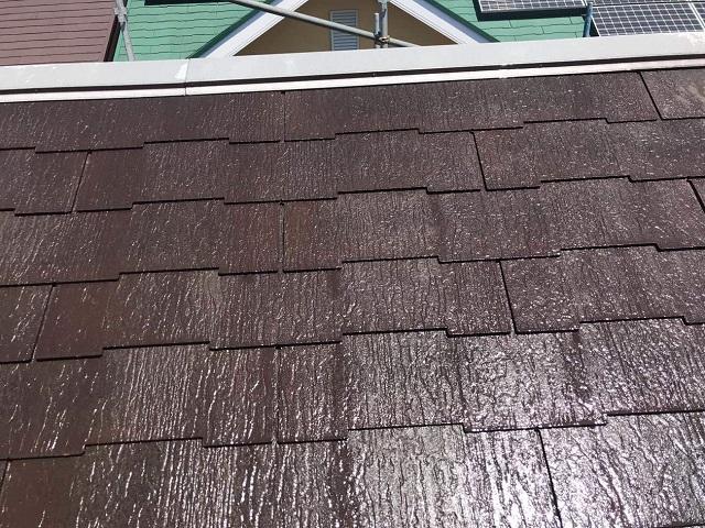 狭山市広瀬 屋根塗装 高圧洗浄作業2