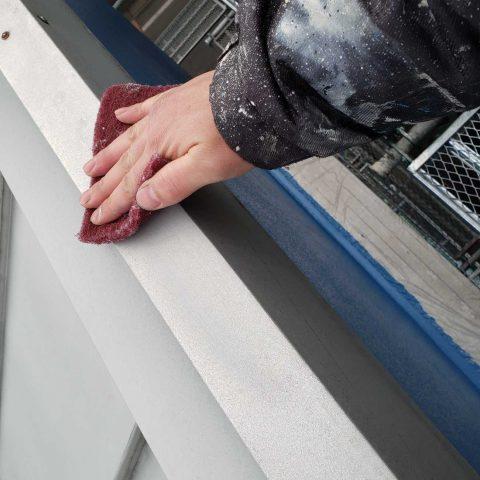 所沢市若狭 屋根・外壁塗装 付帯部塗装作業 (1)
