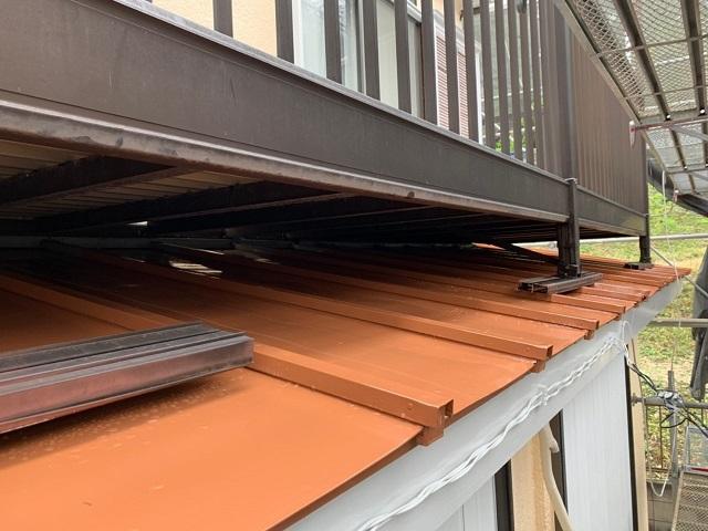 東京都東大和市 屋根葺き替え、外壁塗装工事 下屋根塗装工事4