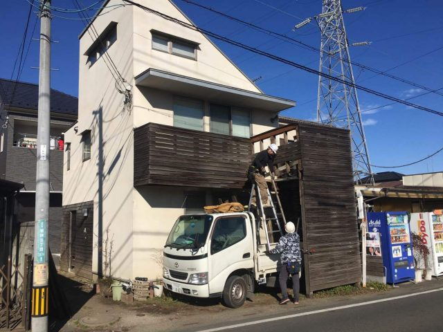 所沢市若狭 屋根・外壁塗装 ベランダ解体工事 (15)