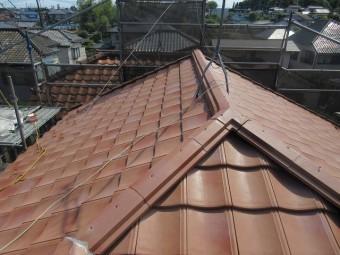 東京都東大和市 屋根葺き替え、外壁塗装工事 屋根材ROOGA 施工5