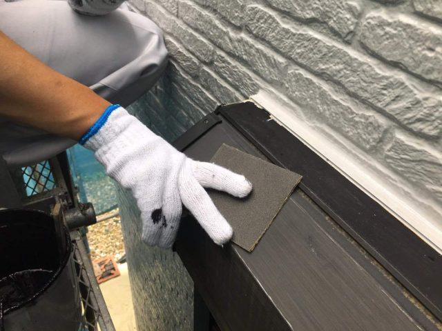 所沢市東所沢 屋根カバー、外壁塗装工事 付帯部塗装 破風、霧除け、雨樋塗装工事 (7)