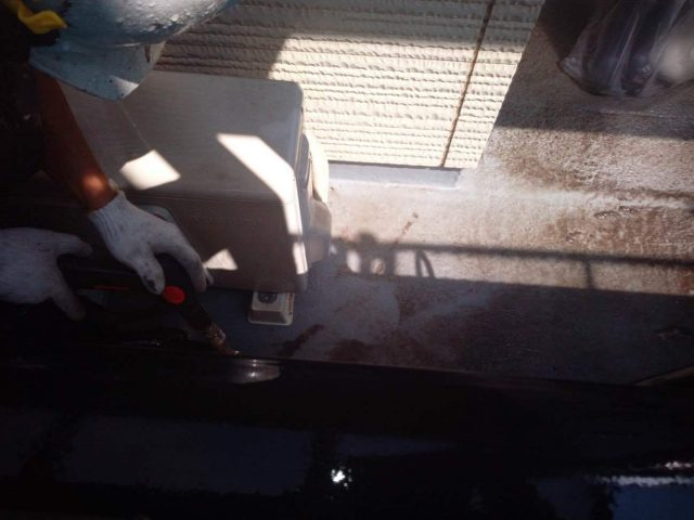 所沢市東所沢 屋根葺き替え、外壁塗装 高圧洗浄作業 (24)