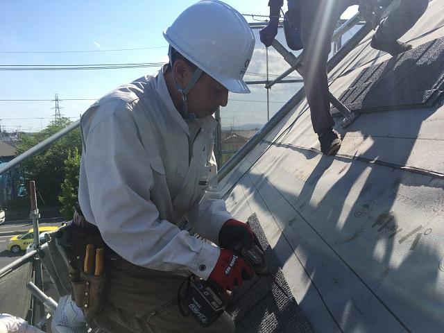 所沢市和ケ原 屋根カバー、天窓撤去、外壁塗装工事 屋根カバー工事 軽量屋根材セネター施工