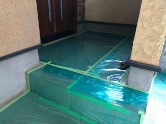 所沢市 東所沢 屋根・外壁塗装 養生作業 (1)