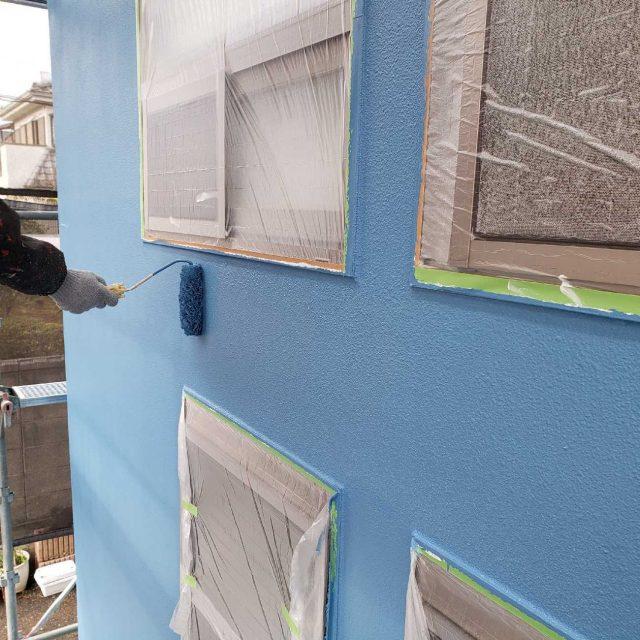 所沢市若狭 フッ素樹脂塗料 外壁塗装作業 (9)