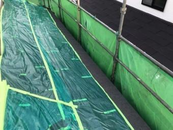 変換 ~ 飯能市 屋根カバー工事 外壁塗装工事 養生作業 (3)