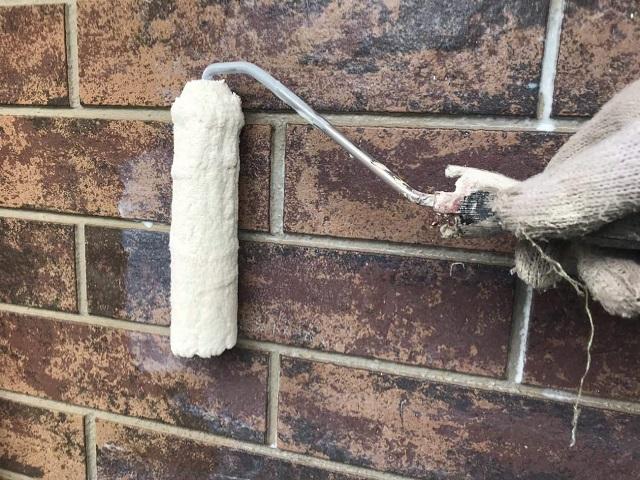 狭山市広瀬 屋根・外壁塗装 ベランダ防水 外壁塗装下塗り