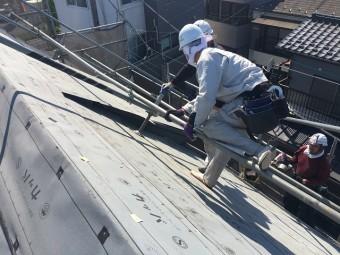 所沢市和ケ原 屋根カバー、天窓撤去、外壁塗装工事 防水ルーフィングシート施工2