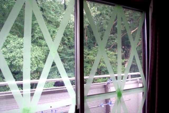 台風対策で特に注意したい窓ガラス