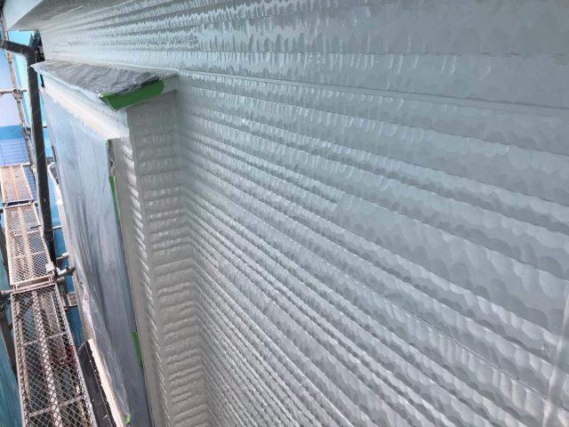 所沢市東所沢 屋根カバー、外壁塗装工事 外壁塗装下塗り作業 (8)