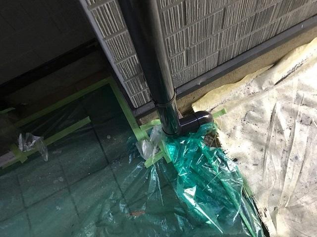 雨樋 縦樋排水部分
