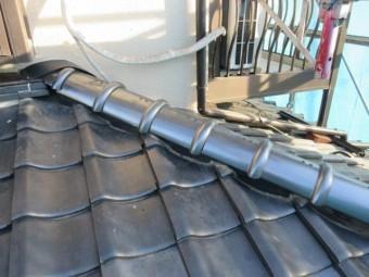 所沢市上新井 棟取り直し 丸棟取付 壁との取り合い 施工後