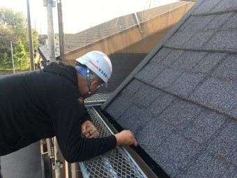 所沢市和ケ原 屋根カバー、天窓撤去、外壁塗装工事 屋根材セネター施工2
