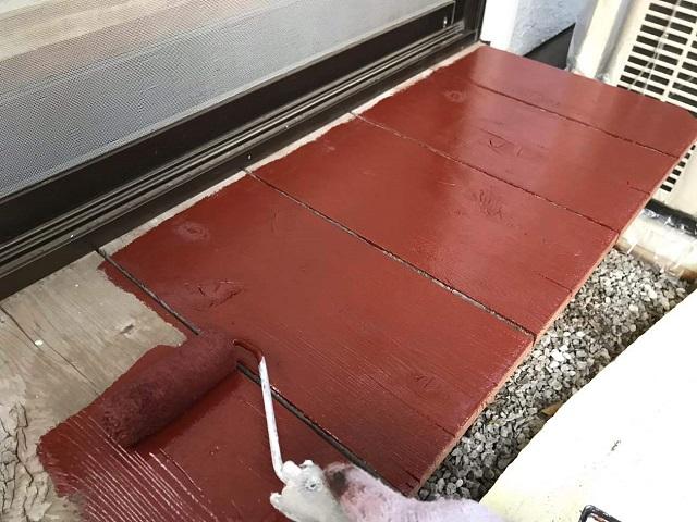 所沢市北野南 屋根カバー、外壁塗装工事 濡れ縁塗装