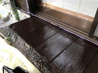 所沢市北野南 屋根カバー、外壁塗装工事 濡れ縁塗装2