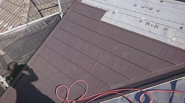 屋根材 スーパーガルベスト 施工①
