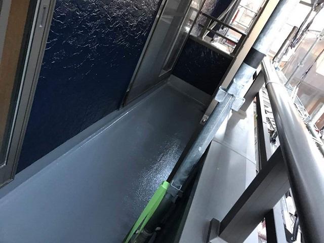 狭山市広瀬 屋根・外壁塗装 ベランダ防水工事1