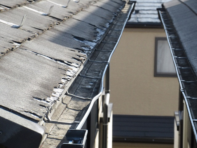 東京都 東村山市 屋根・外壁リフォーム 現地調査 雨樋の曲がり、歪み