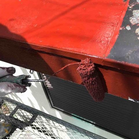 所沢市北中 下屋根塗装2