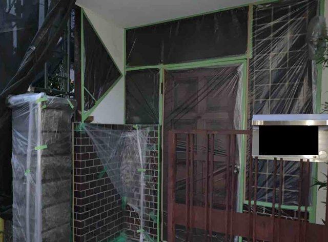 所沢市 上新井 屋根・外壁塗装 養生作業 (9)